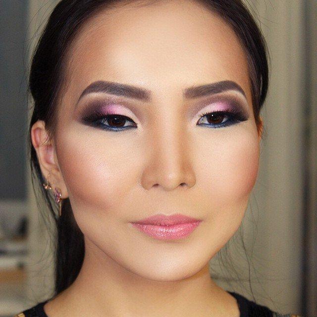 Вечерний макияж на азиатские глаза