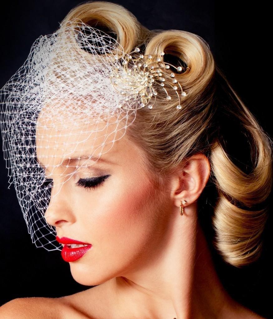 Свадебные прически на волосы с вуалеткой фото
