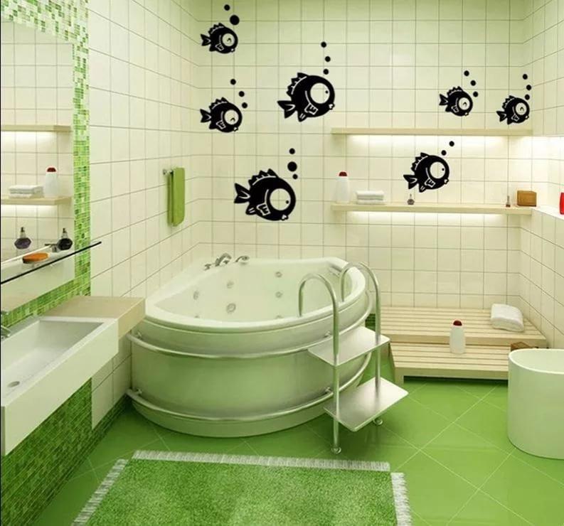 Рисунки для ванной комнаты своими руками