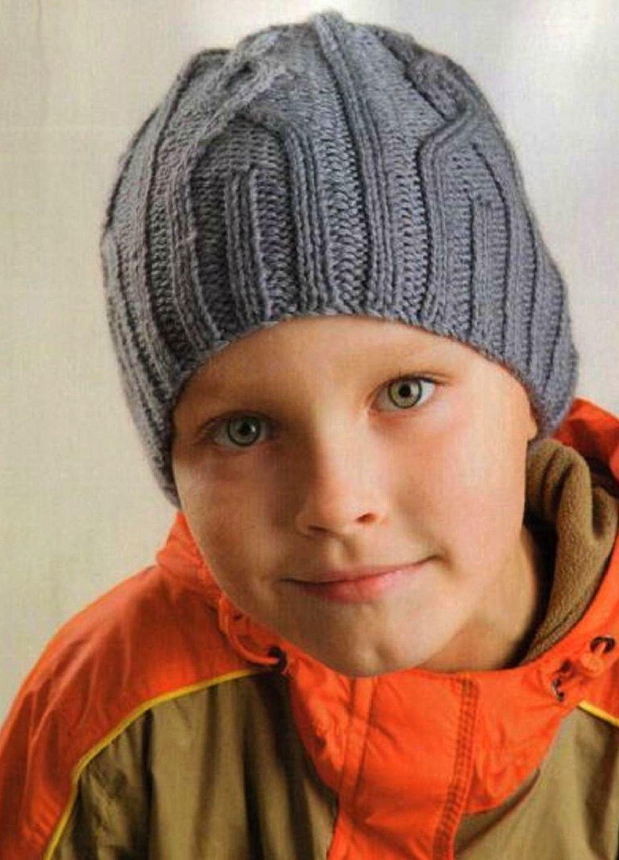 Вязание спицами шапочки для мальчиков подростков