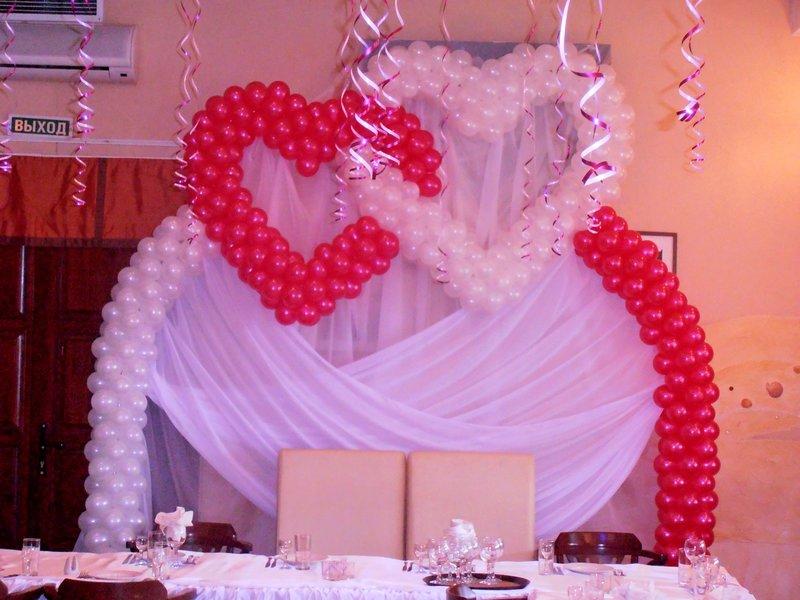 Как сделать арку из шаров на свадьбу