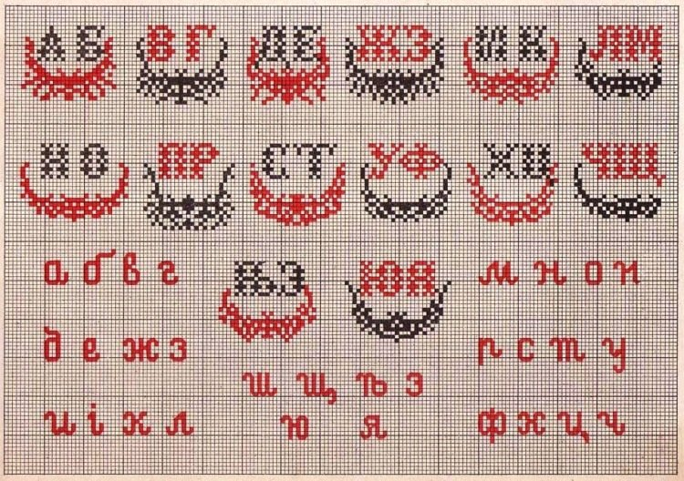 Рисунок перевод вышивка