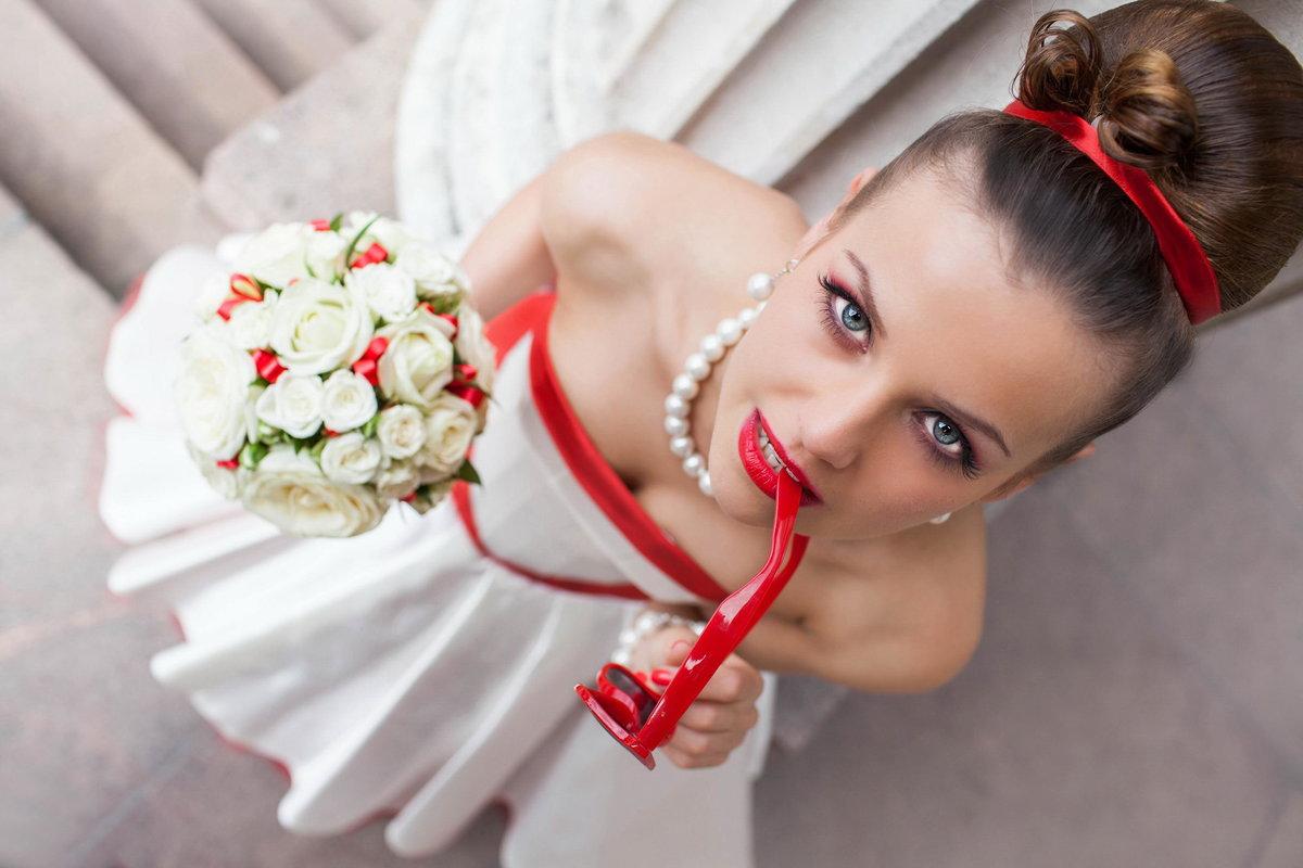 Постановочные свадебные фото идеи