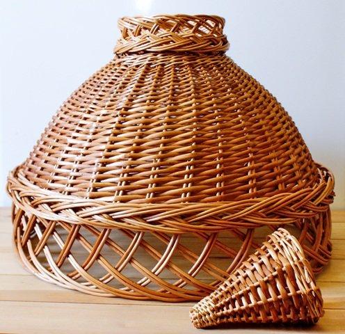Плетение абажуров корзин