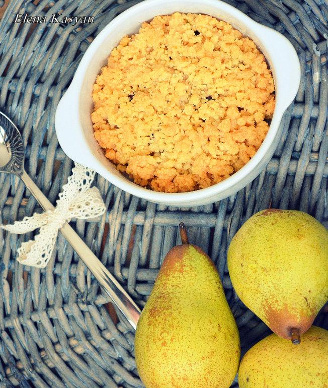 Рецепт крамбла с грушами