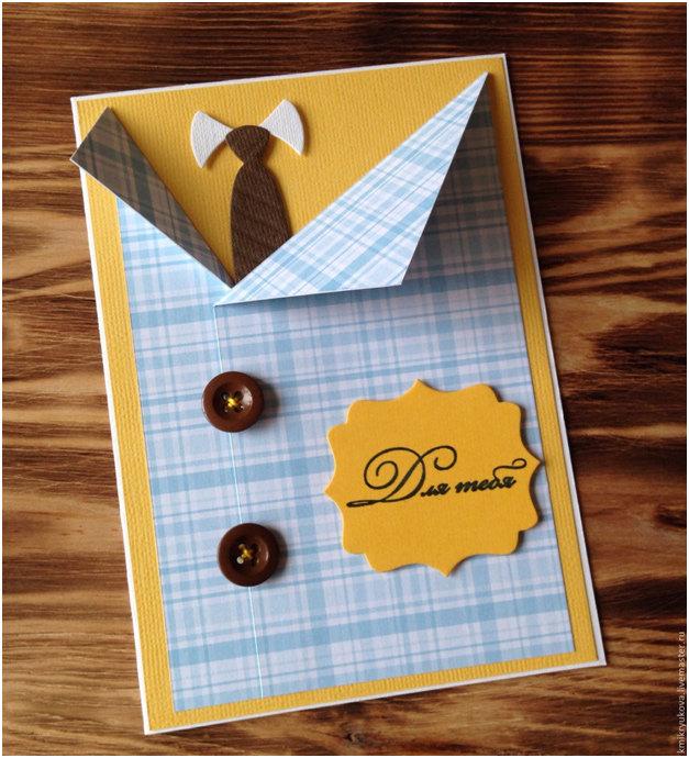 Как сделать открытку на день рождение парня 21