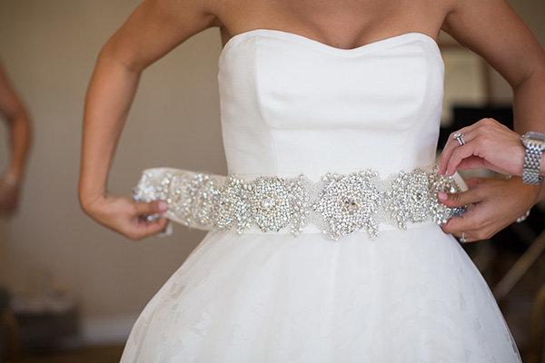 Сделать своими руками пояс для свадебного платья
