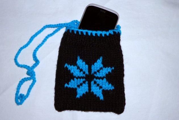 Вязание чехол на телефон узор