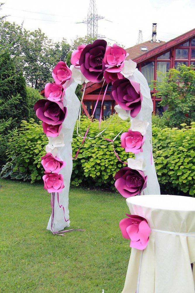 Как сделать арку из цветов своими руками
