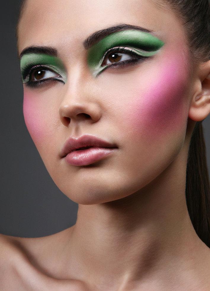 Фото макияж подиумный