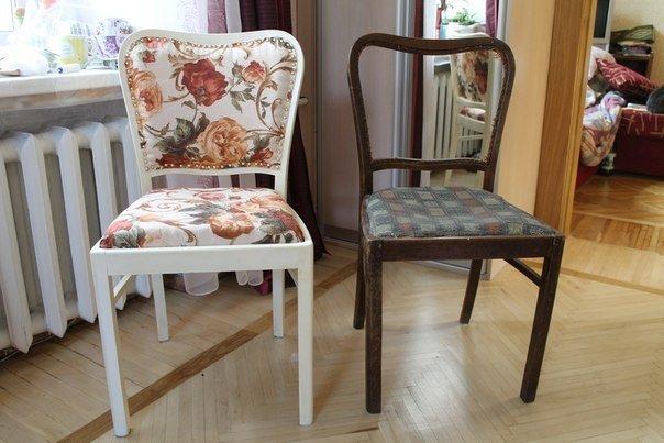 Как своими руками преобразить старый стул 98