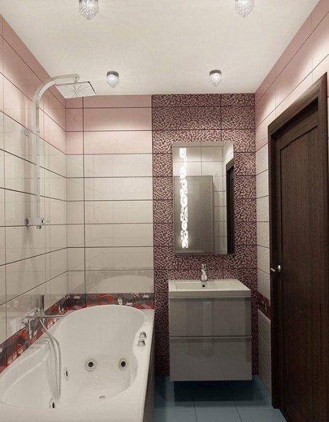 Дизайн ванной комнаты в панельном доме без туалета