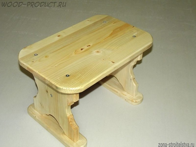 Сделать табуретку из дерева