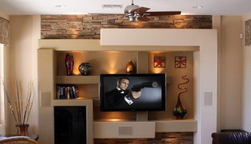 Как сделать нишу на стене под телевизор 181