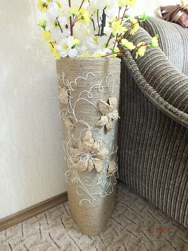 Мастер класс сделать напольную вазу своими руками