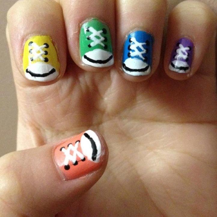 Рисунки на короткие ногти для детей