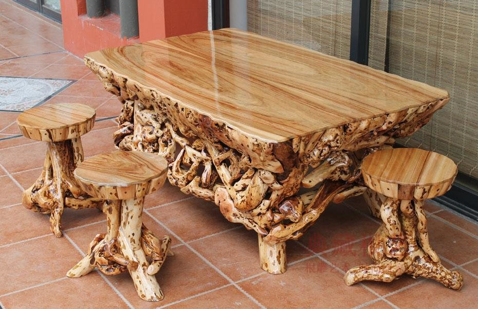 Большой стол своими руками с дерева 678