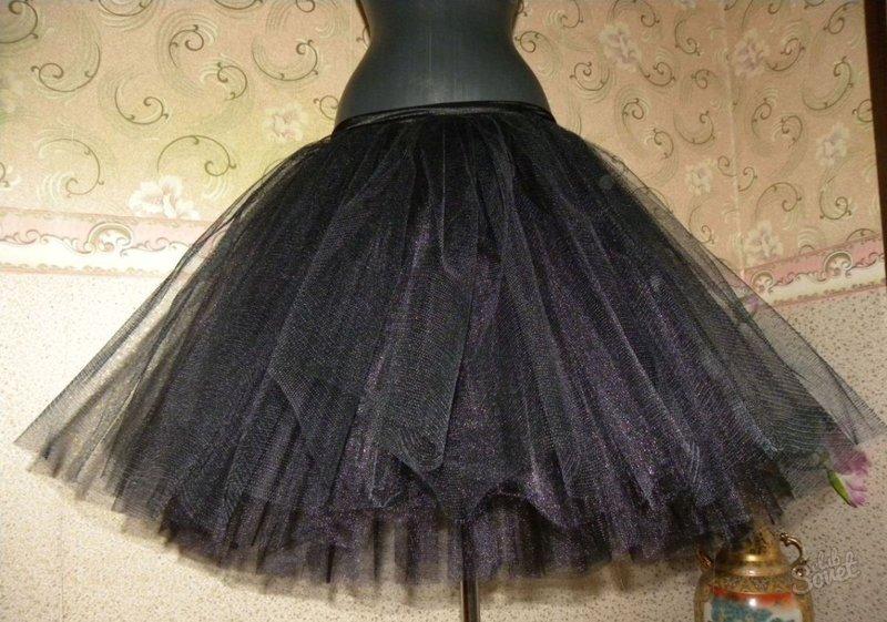 Как из сетки сшить юбку пышную юбку