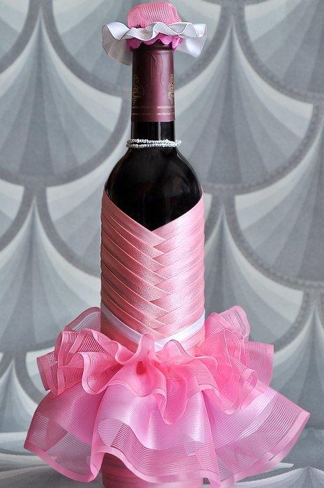 Как украсить бутылку вина своими руками