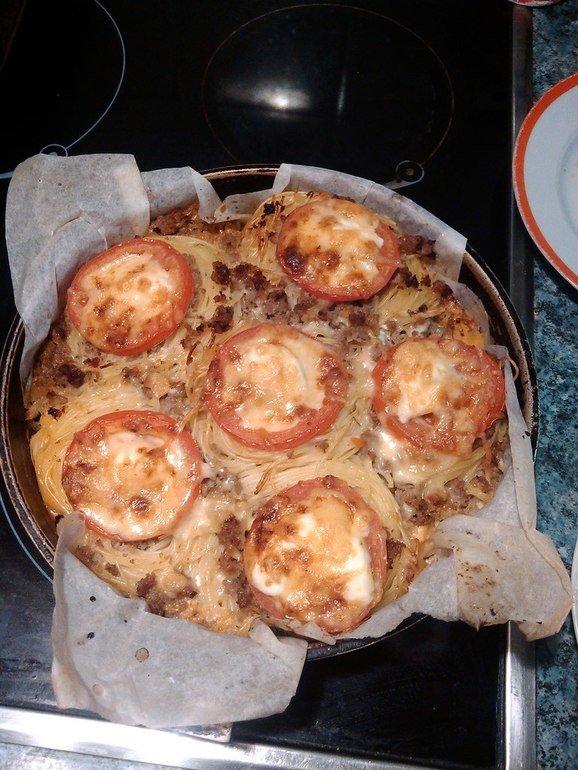 Как делать гнезда с фаршем рецепт 2