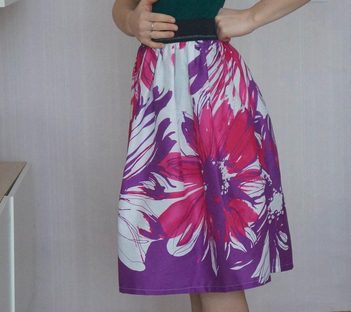 Фото юбка на резинке своими руками
