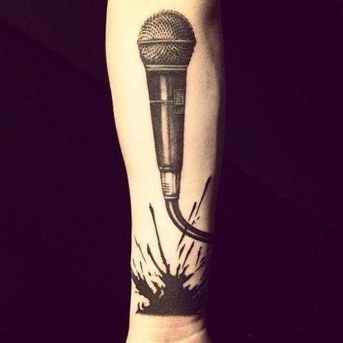 Микрофон эскиз для тату