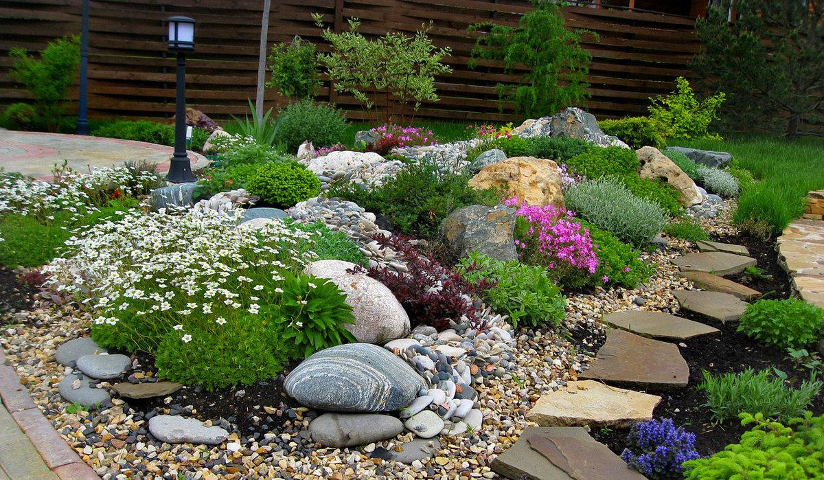 Горка в саду своими руками фото 898