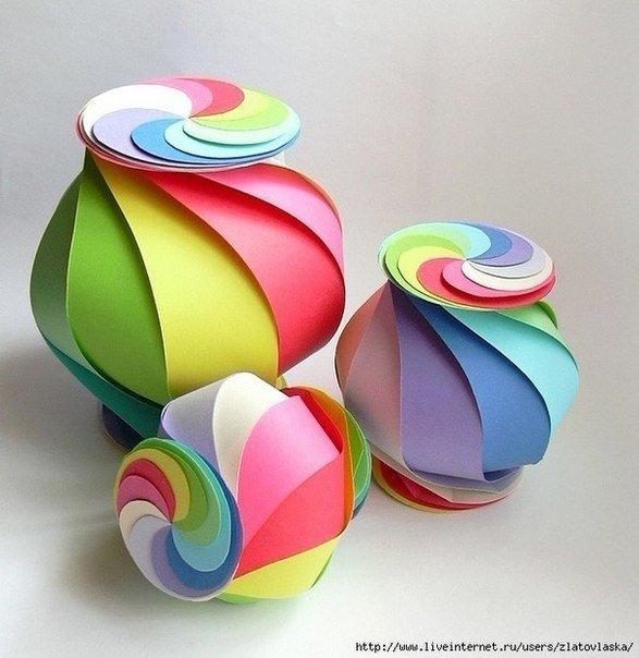 Как сделать красивую поделки из бумаги