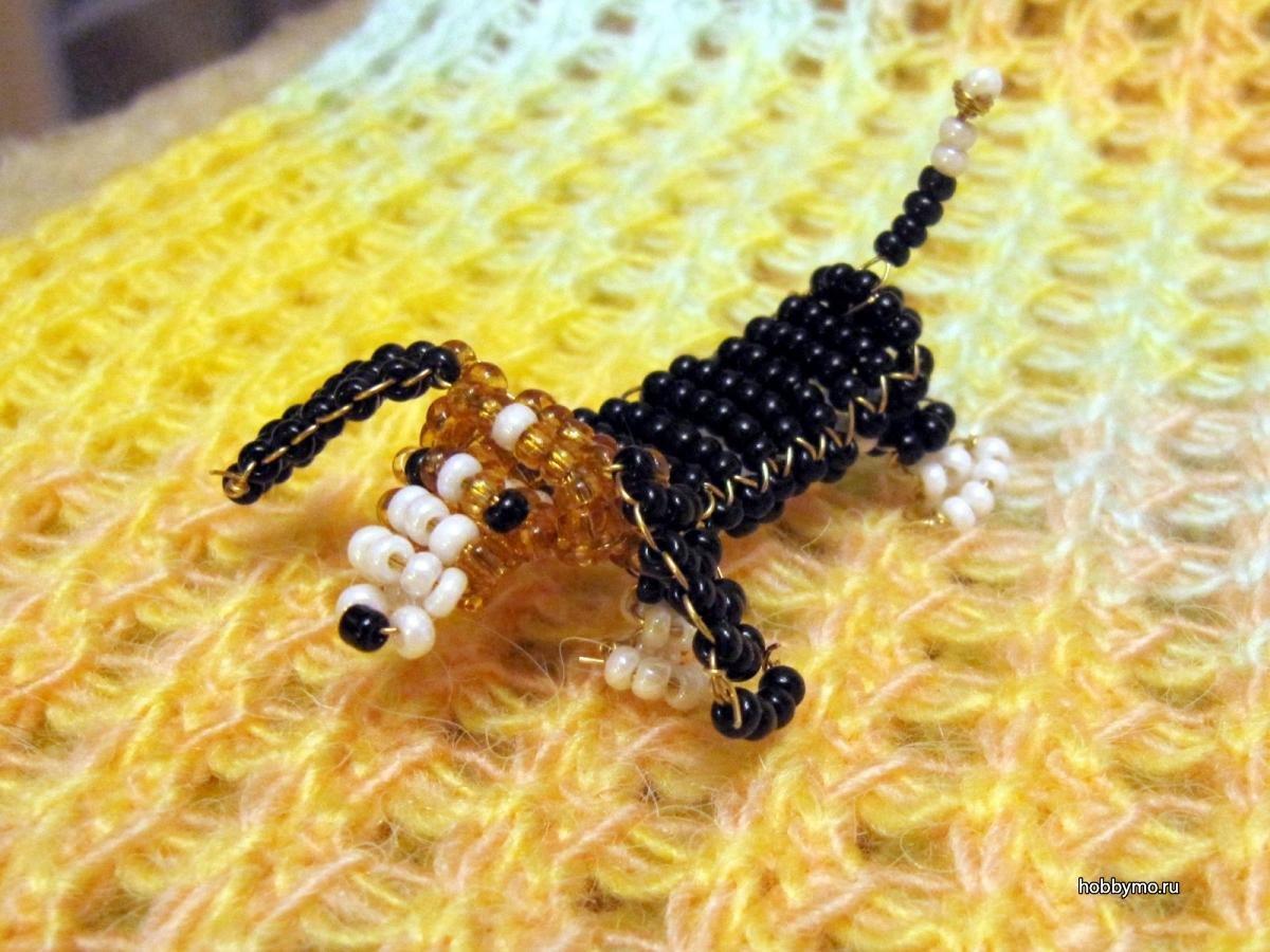 Поделки из бисера своими руками как сделать собаку