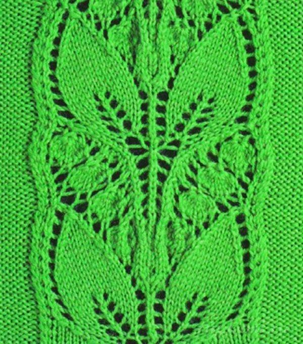 Вязание растительный узор 54