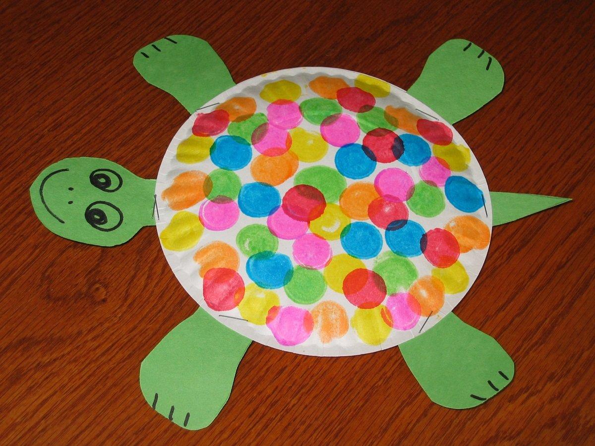Поделки из цветных тарелок