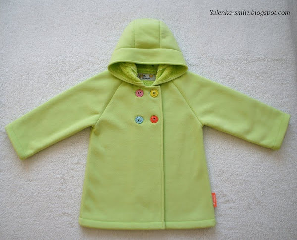 Пальто для 3-х летней девочки сделано своими руками