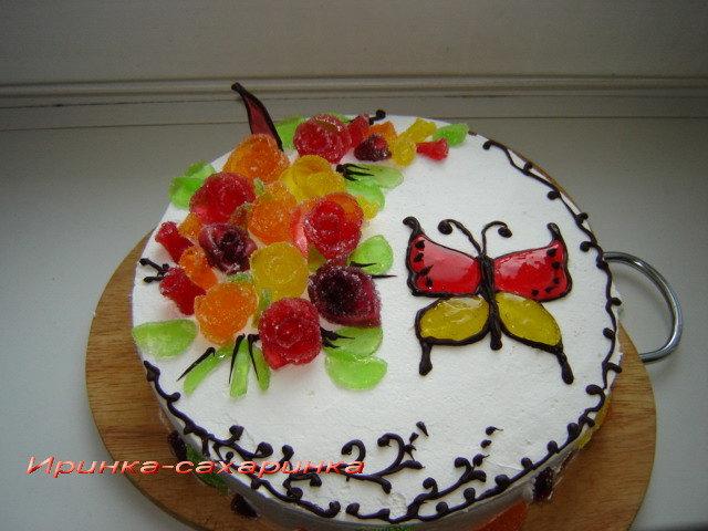 Украсить торт красиво своими руками
