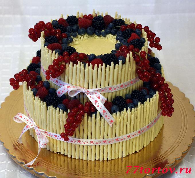 Торт двухъярусный своими руками