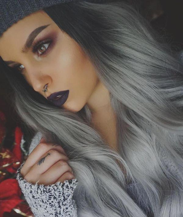 Пепельный цвет волос на темной коже