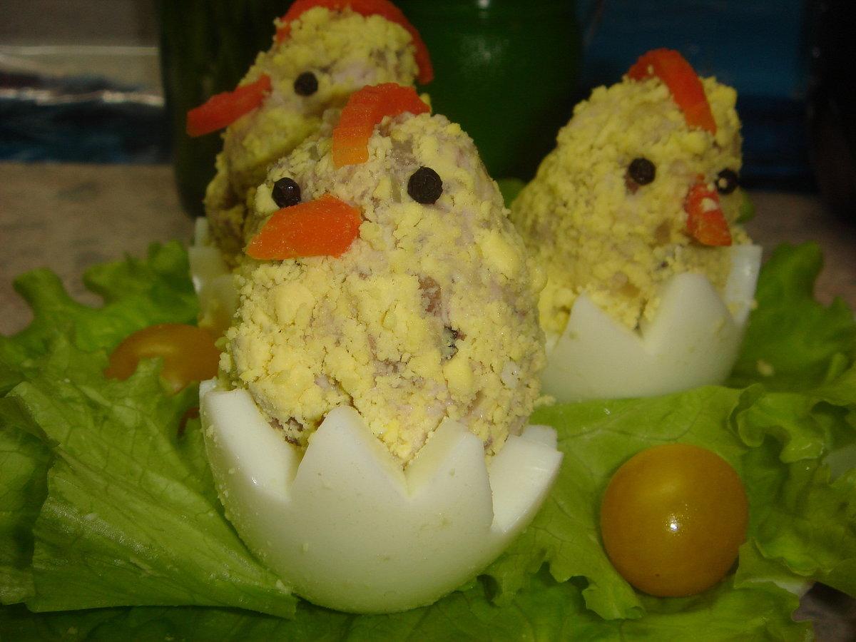 Поделки из вареных яиц фото
