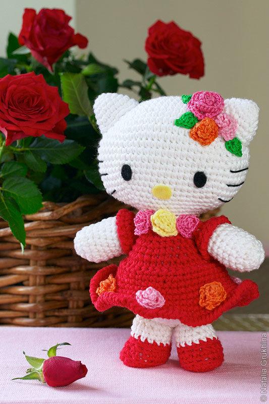 Вязание игрушек китти