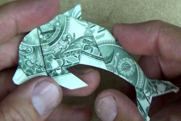Рыба из денег своими руками пошаговая инструкция 33