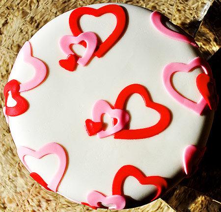 Картинки тортов до дня валентина