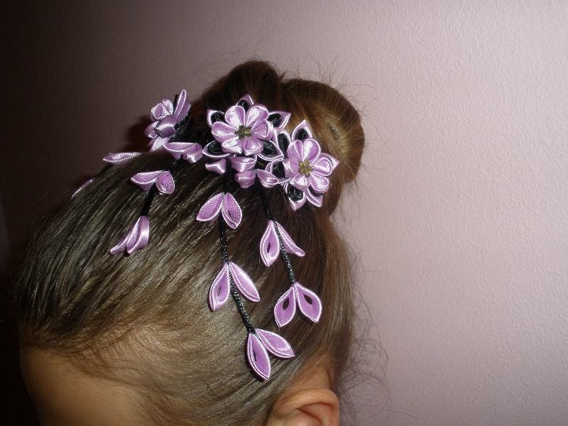 Как сделать цветы на резинке для волос