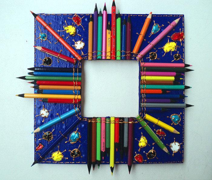 Рамочка из карандашей своими руками