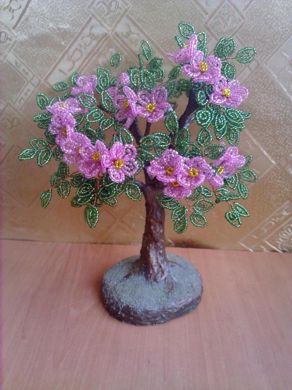Мастер класс поделки из бисера деревьев и цветов