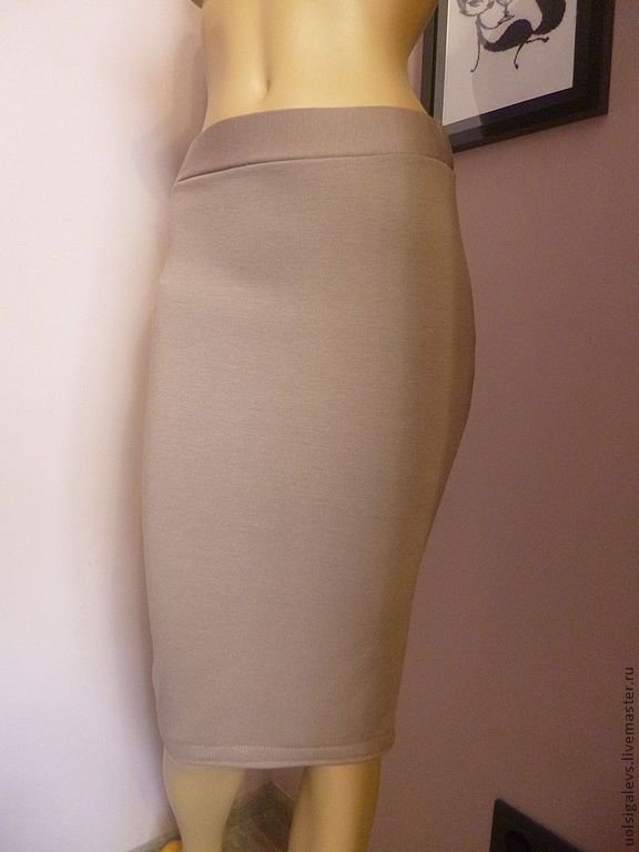Трикотажная юбка карандаш своими руками