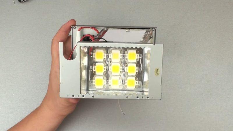 Уличный фонарь из светодиодной ленты своими руками 69