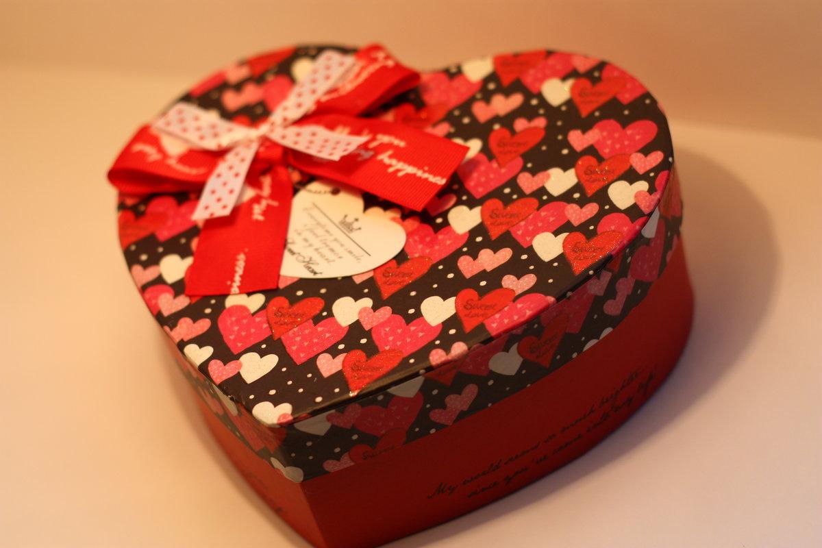 Подарочная коробка в форме сердца своими руками