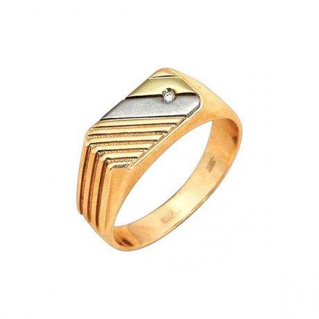 Золотая печатка с узором (585 проба) - tallinn - ювелирные изделия и часы, кольца купить и продать