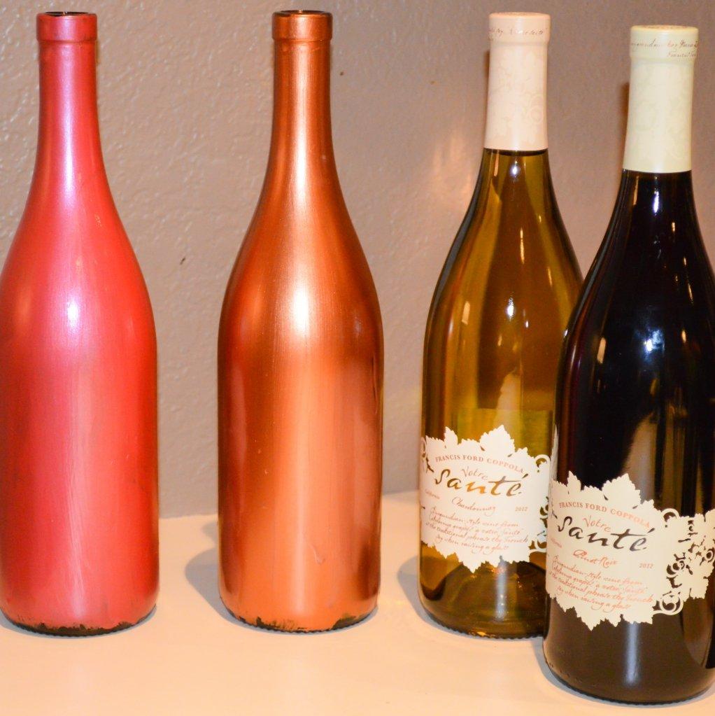 Украсить бутылку с вином своими руками 198