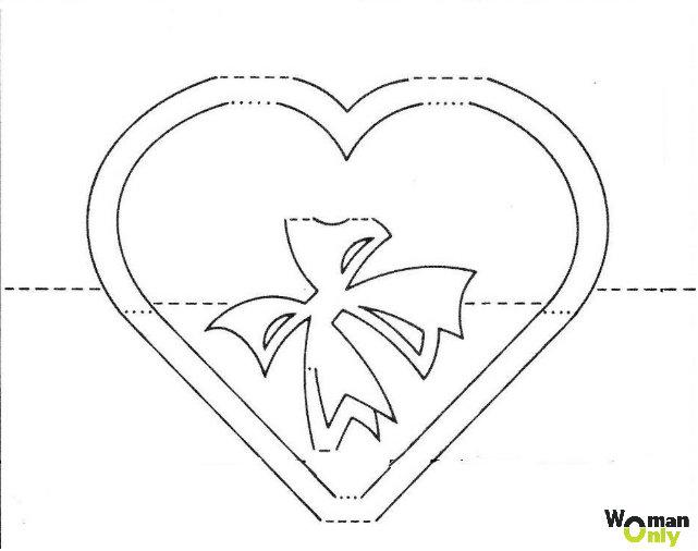 Открытки своими руками киригами схемы