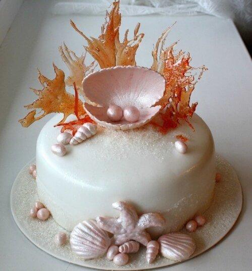 Как сделать ракушки для торта 618