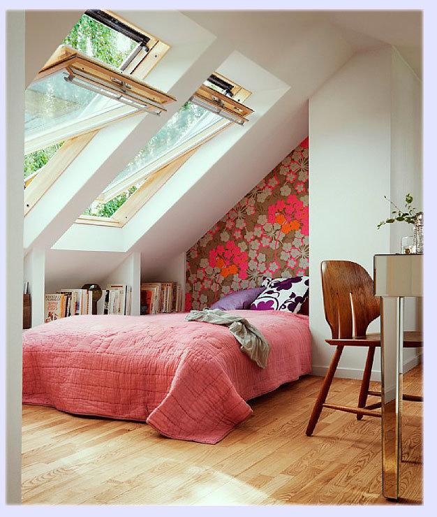 Спальня маленькая в мансарде дизайн